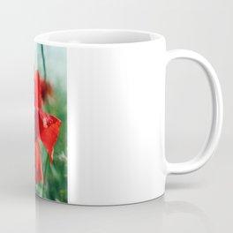 White Poppy and Red Poppy Coffee Mug