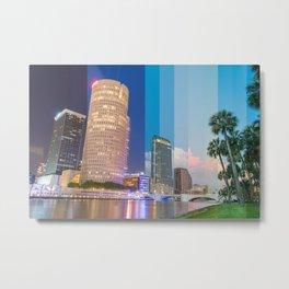 Timeslice Tampa Metal Print