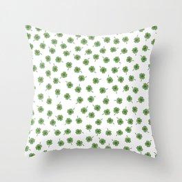 Light Green Clover Throw Pillow