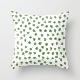 Light Green Clover Throw Pillow