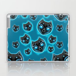 Cute Skulls Black Cat Laptop & iPad Skin