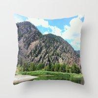 montana Throw Pillows featuring Montana Rock  by OrdinaryAdventures