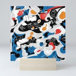 sizzle kinks of curved lines Mini Art Print