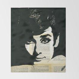 Audey Hepburn portrait Throw Blanket