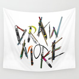 Draw More (Color) Wall Tapestry