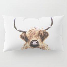 Highland Cow Portrait Pillow Sham