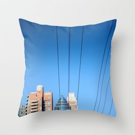 Buildings and Power Lines Throw Pillow