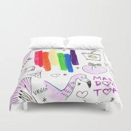 pride aesthetics lgbtqia rainbow Duvet Cover