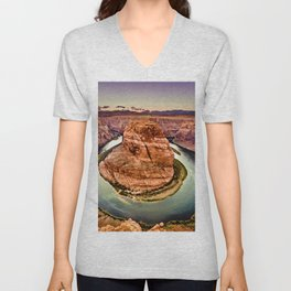 Horseshoe Bend Grand Canyon Arizona Unisex V-Neck