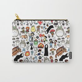Kawaii Ghibli Doodle Carry-All Pouch