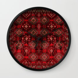 Heritage Royal Red Oriental  Traditional Moroccan Style Design  Wall Clock