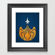 Retro Rocket Framed Art Print