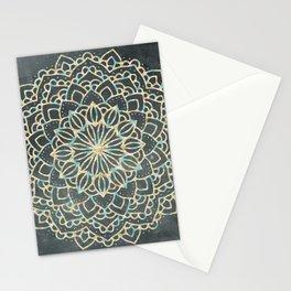 Sea Shimmer Mandala - Gold + Turquoise Stationery Cards