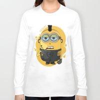 minion Long Sleeve T-shirts featuring Minion Tattooist by Vanesa Abati
