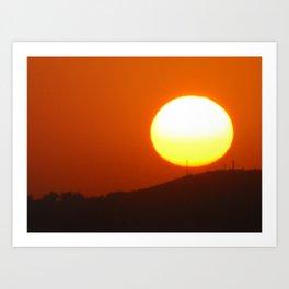 .away from the sun. Art Print