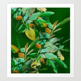 Evening Leaves Art Print