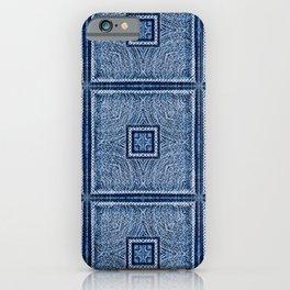 Square Mandala (Blue) iPhone Case