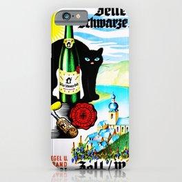 Vintage Zeller Katz Rhine River Valley Wine Bottle Label Print iPhone Case