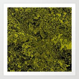 Green and Black Marble #sellart #society6 Art Print