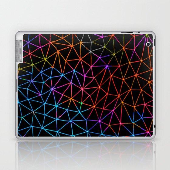 Geometric Glow Laptop & iPad Skin