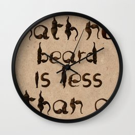 Shakespeare's Macbeth Wall Clock