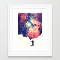 universe Framed Art Prints featuring Painting the universe by badbugs_art