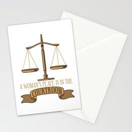 A Woman's Place Is In The Courtroom Gift Stationery Cards