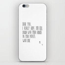 Dear You iPhone Skin
