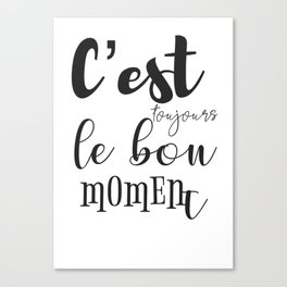 French motivation success quote Canvas Print