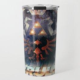 Yeah she sees my Hyrulin' - 80's Legend of Zelda Shield Travel Mug