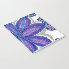 Bloom in Aqua & Purple Notebook