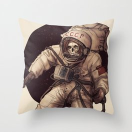 Lost Cosmonaut Throw Pillow