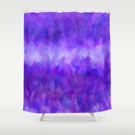 Dappled Blue Violet Abstract Shower Curtain