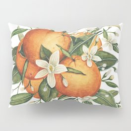 Orange Blossoms Pillow Sham