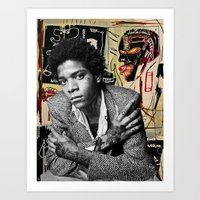 Tattooed Basquiat Art Print