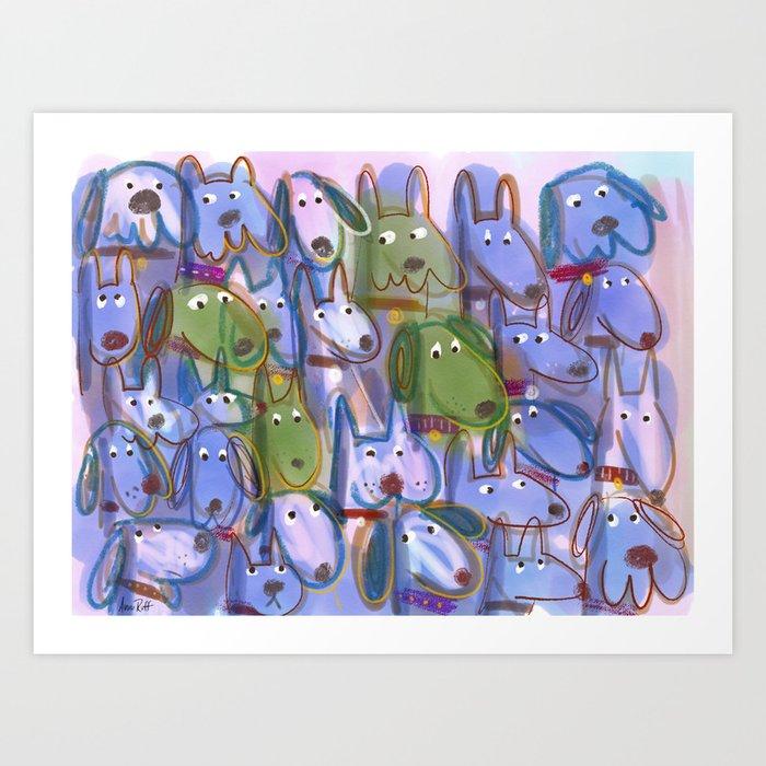 Woof Pack Art Print