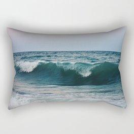 Atlantic Ocean Waves Rectangular Pillow