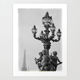 Paris cupids Art Print