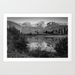 Rocky Mountain Shadows - Colorado Landscape Black and White Art Print