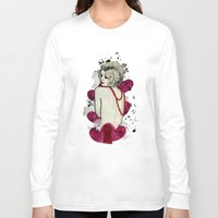 naked Long Sleeve T-shirts featuring Naked by Melania B