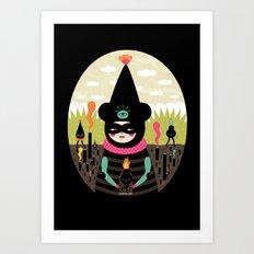 Mimu & The Fireboy Art Print