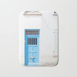 Belgian Blue Door Bath Mat