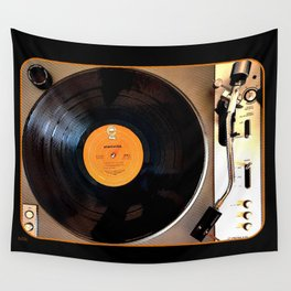 Vintage Pioneer Turntable 1976 Electronics PL-117D Wall Tapestry