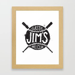 Classic Jim's Ball Club - Tshirt Framed Art Print