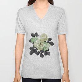 Citron Florals Unisex V-Neck