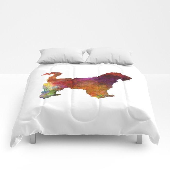 Grand Griffon Vendeen in watercolor Comforters