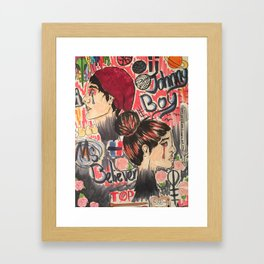Johnny Boy and Miss Believer Framed Art Print