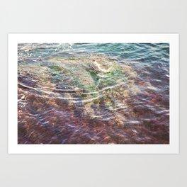 Colorful Ocean Wading Art Print