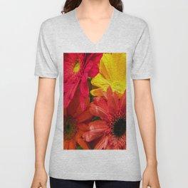 Sunny Daisy Flower Art Unisex V-Neck