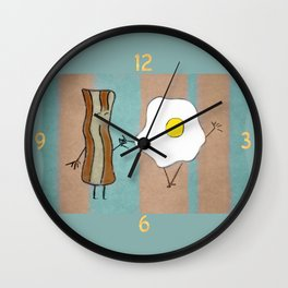 Bacon & Egg Togetherness Wall Clock